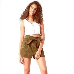 Urban outfitters bdg paper bag high waist shorts